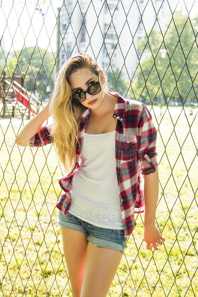 trendiges Hipster-Girl foto