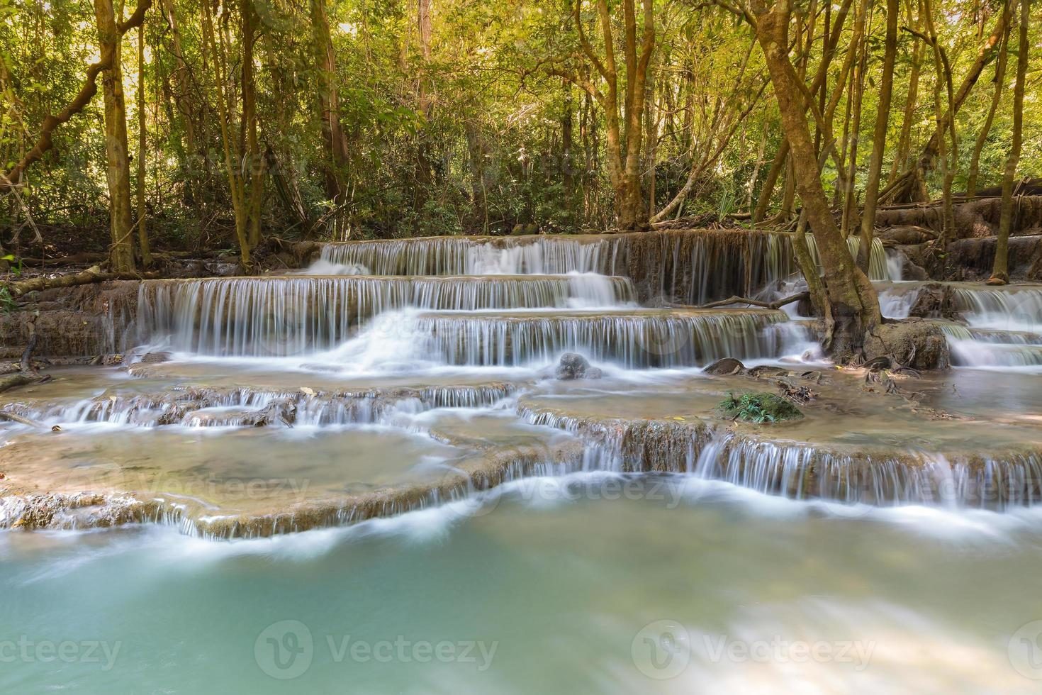 schöne Landschaftsansicht der blauen Bachwasserfälle foto