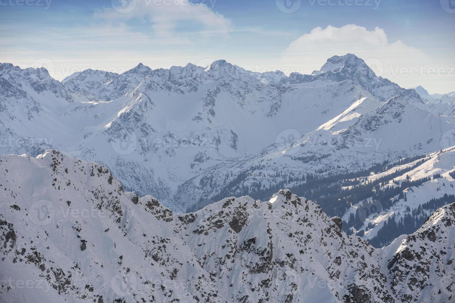 schneebedeckte deutsche alpen foto