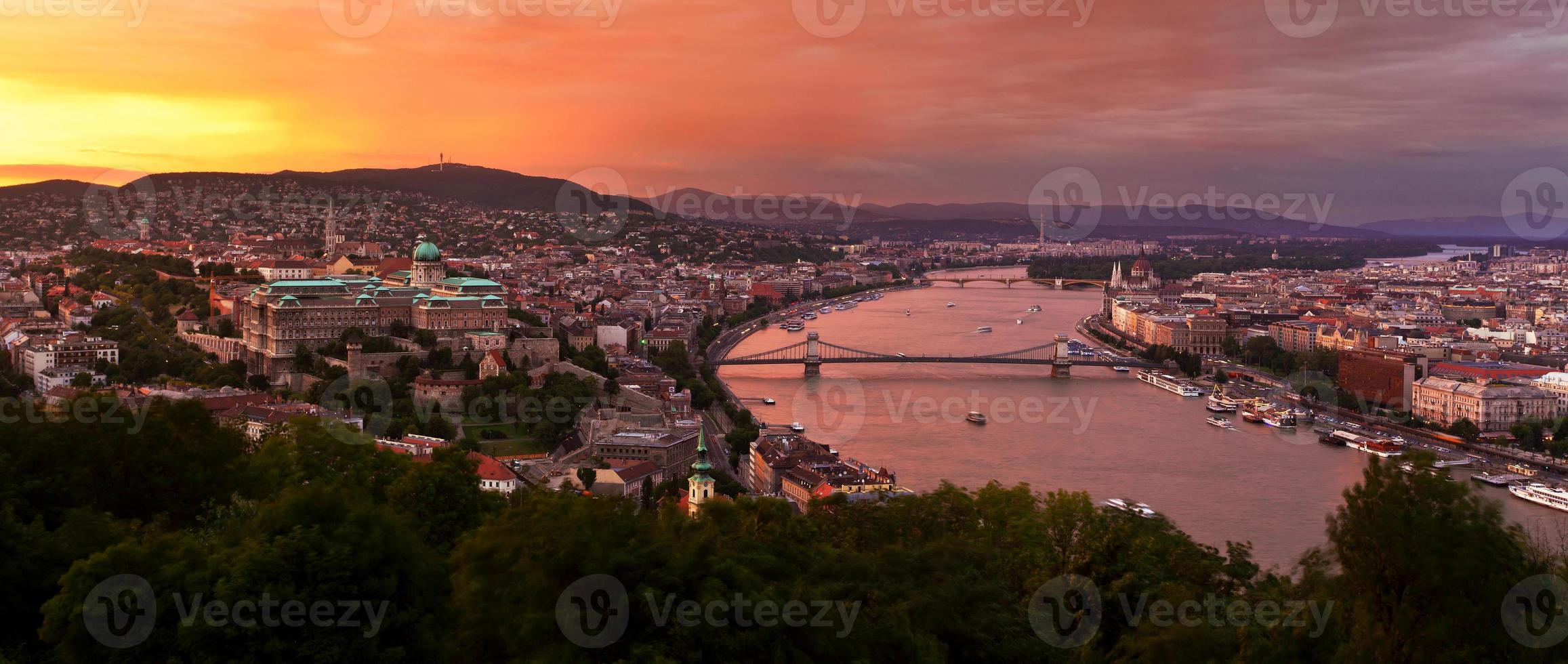 Panorama von Budapest foto