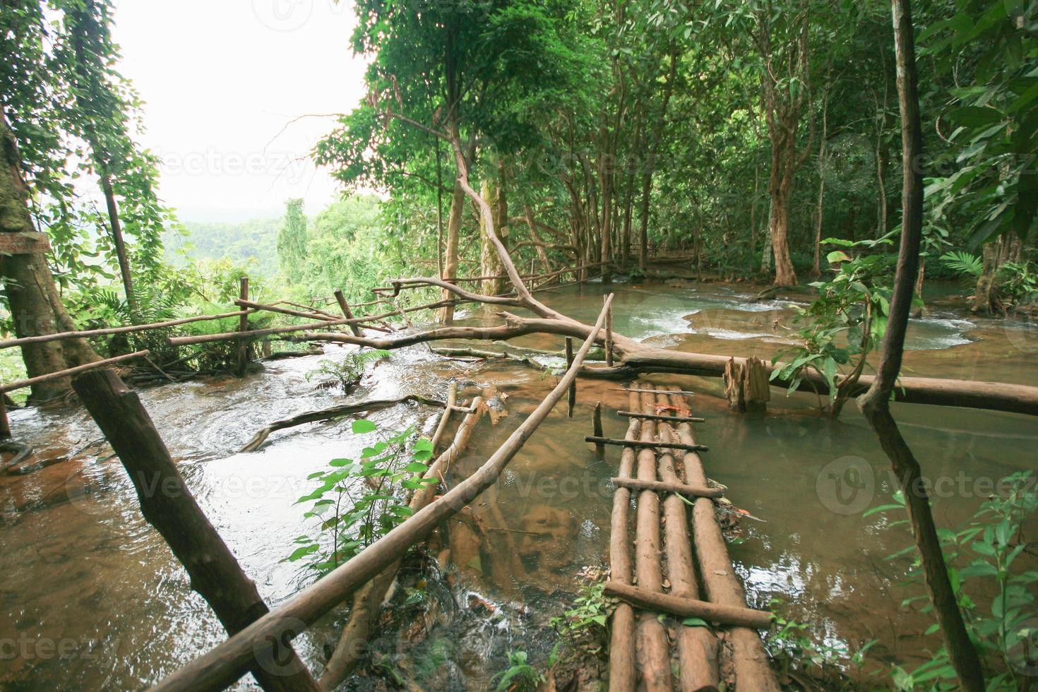 Wasserfall im Regenwald südlich von Loas foto