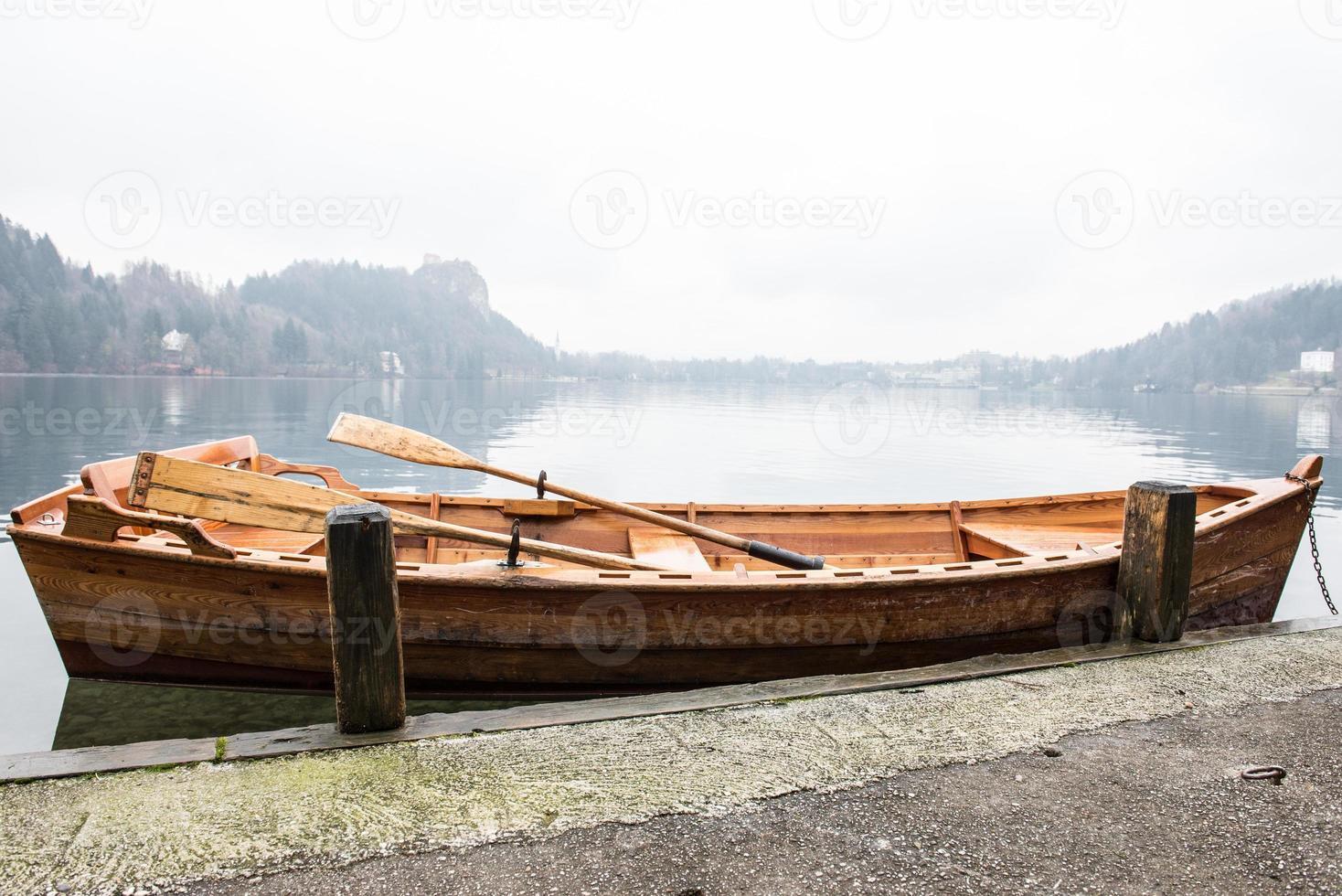 Boot auf einem See foto