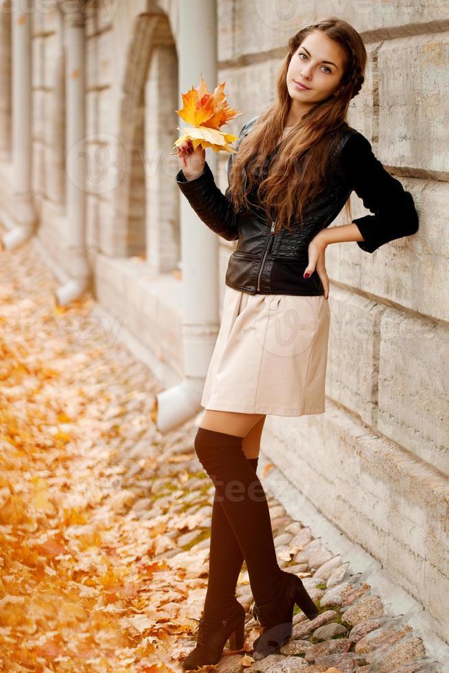 Herbstfrau. foto