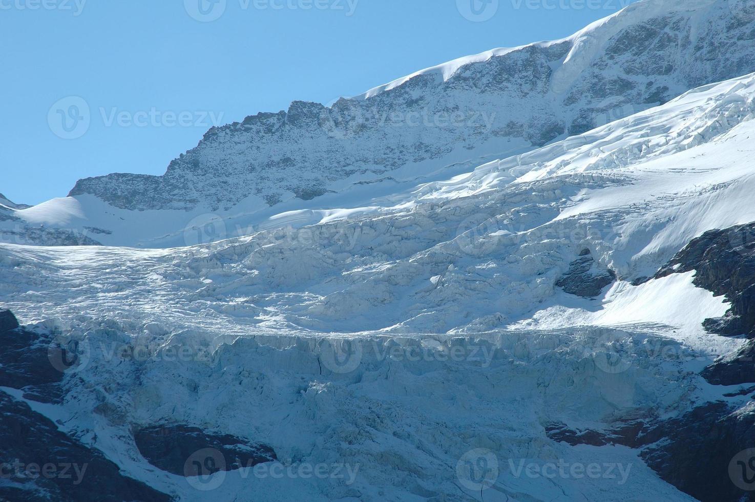 Gletscher in der Nähe von Grindelwald in den Alpen der Schweiz foto