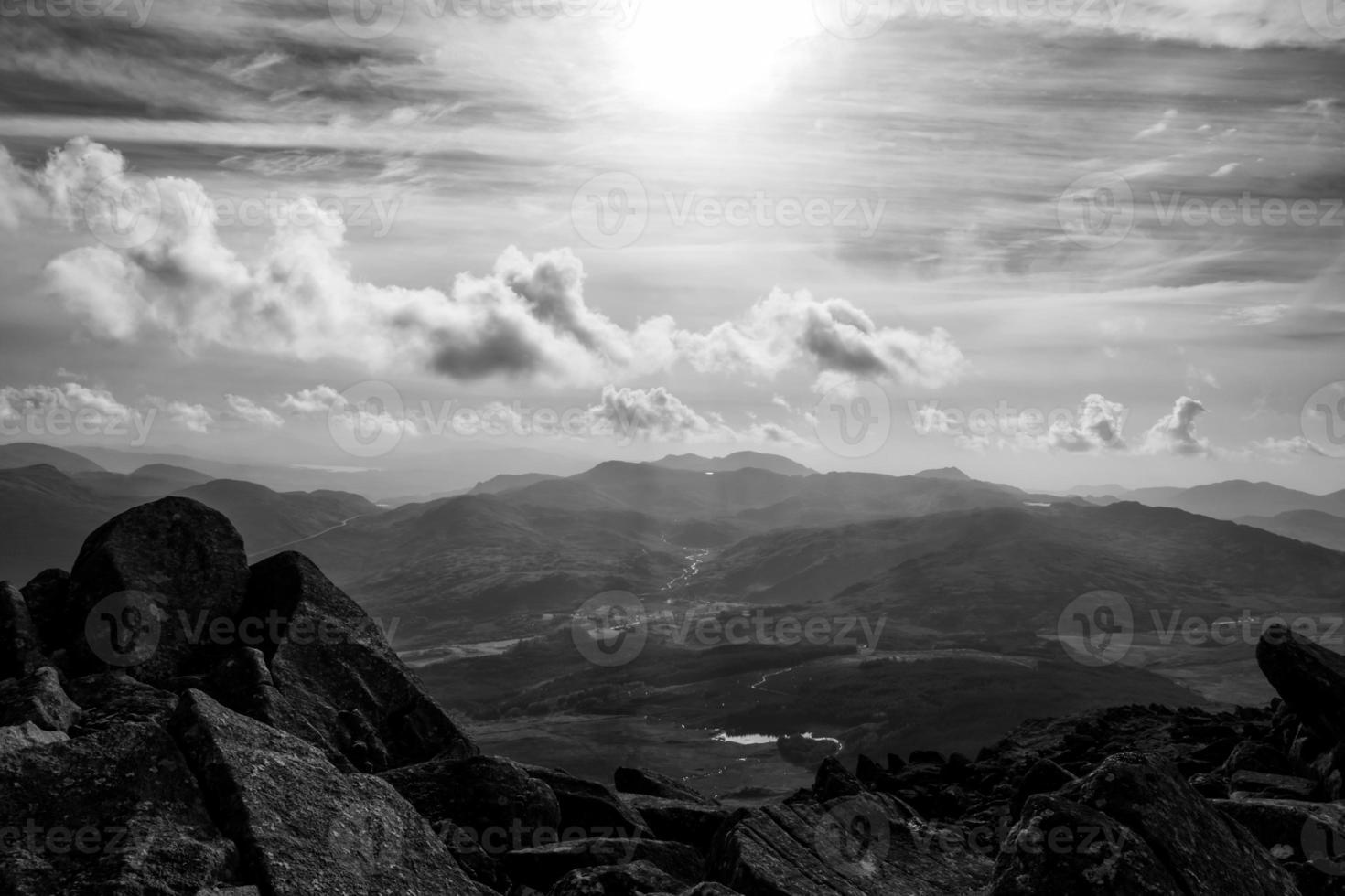 Blick von Moel Siabod Snowdonia North Wales foto