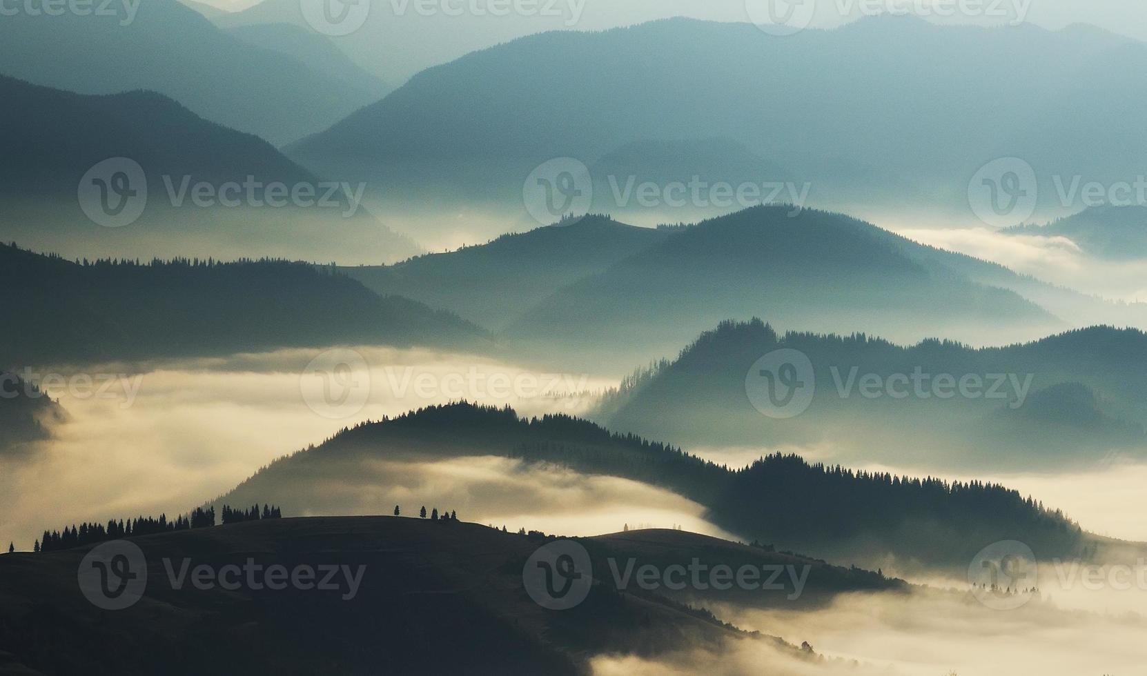 Berg Silhouetten foto