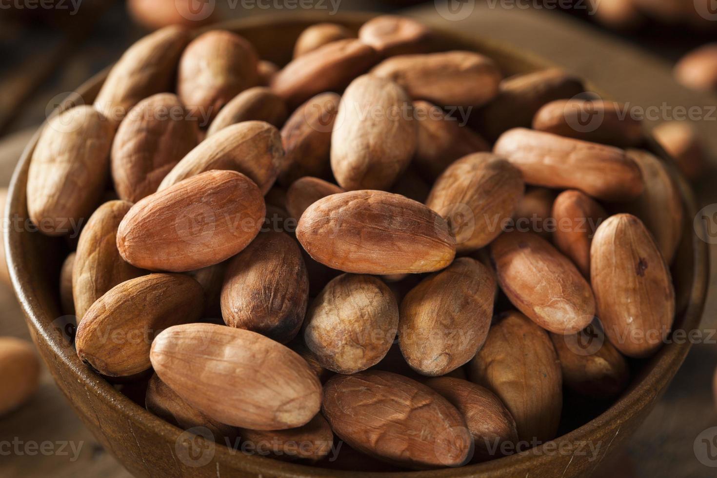 rohe Bio-Kakaobohnen foto