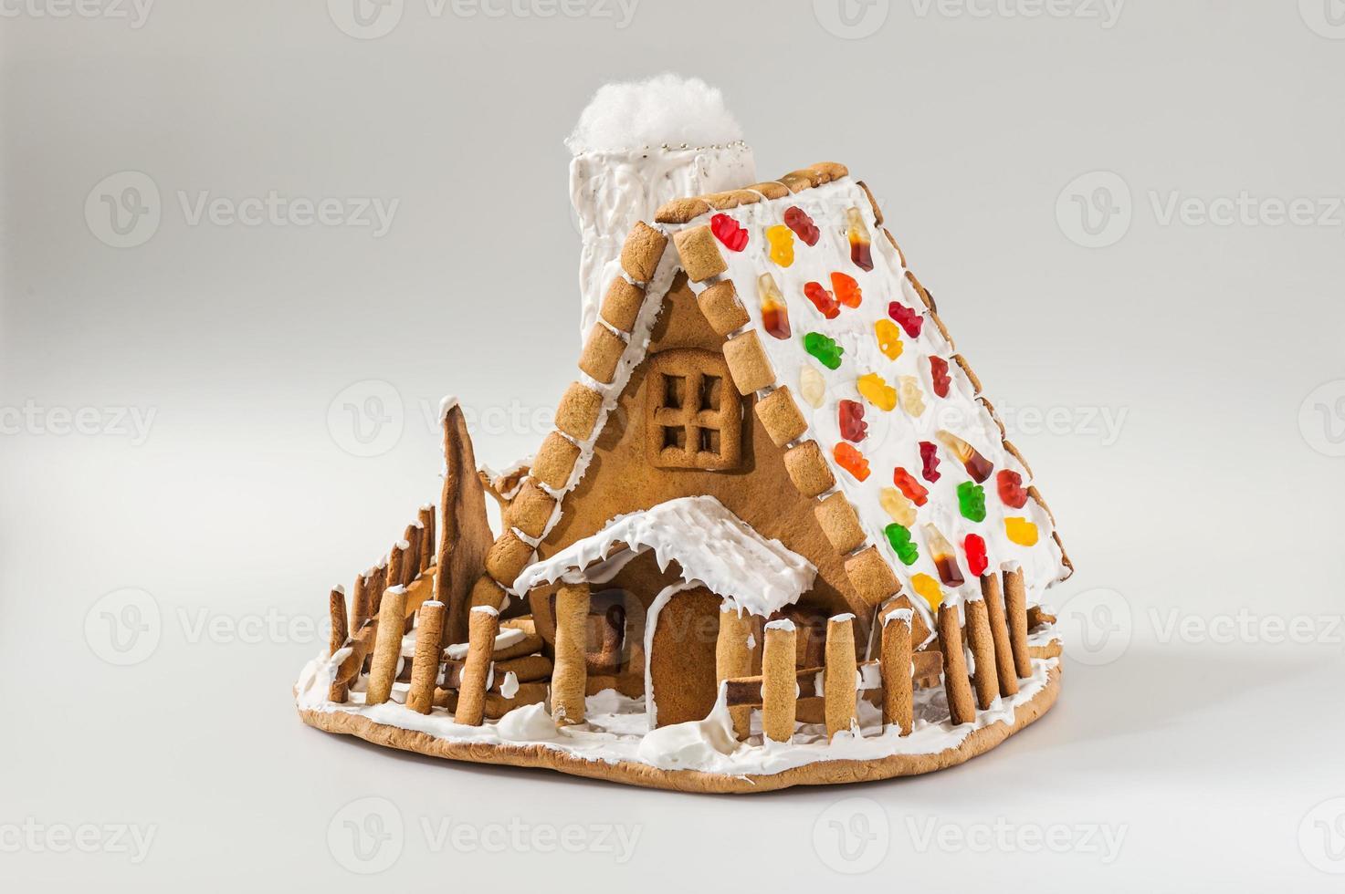 Weihnachts Lebkuchenhaus foto