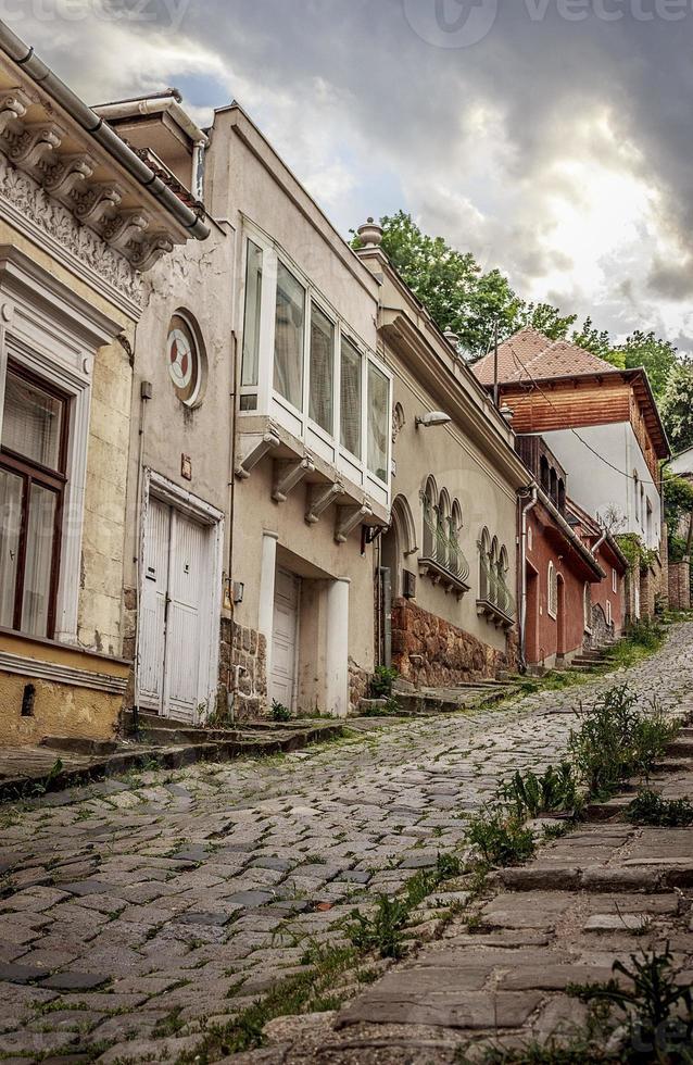 schöner Blick auf die Straße in Budapest foto