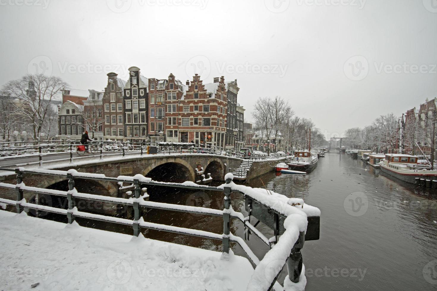 Winter in Amsterdam die Niederlande foto