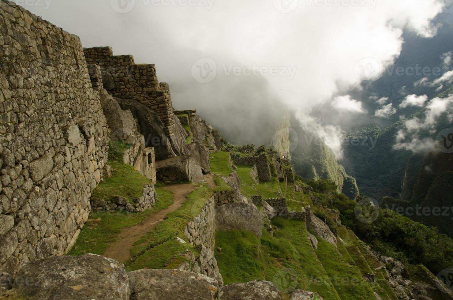 Vista Ciudad Inca de Machu Picchu foto