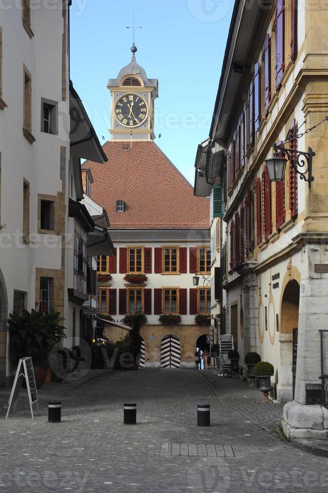 das mittelalterliche Dorf Murten foto