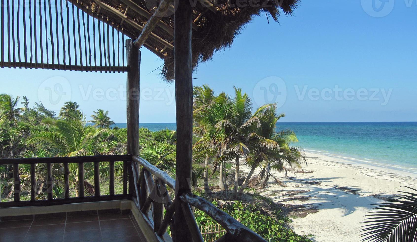 Karibik Meerblick vom Balkon foto