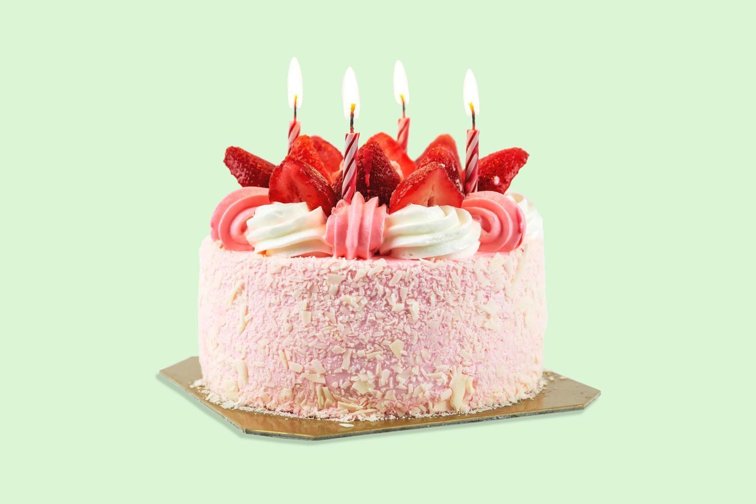 Erdbeer-Geburtstagstorte foto