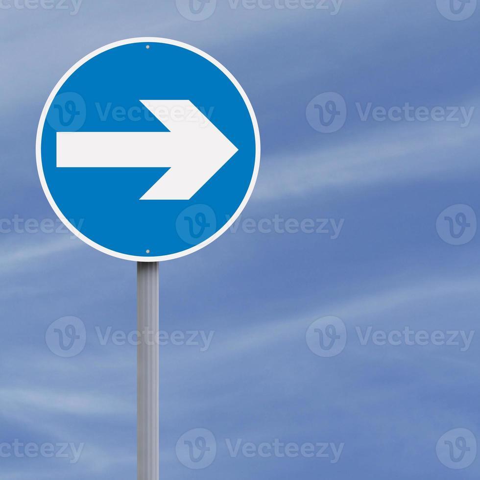 biegen Sie rechts ab foto