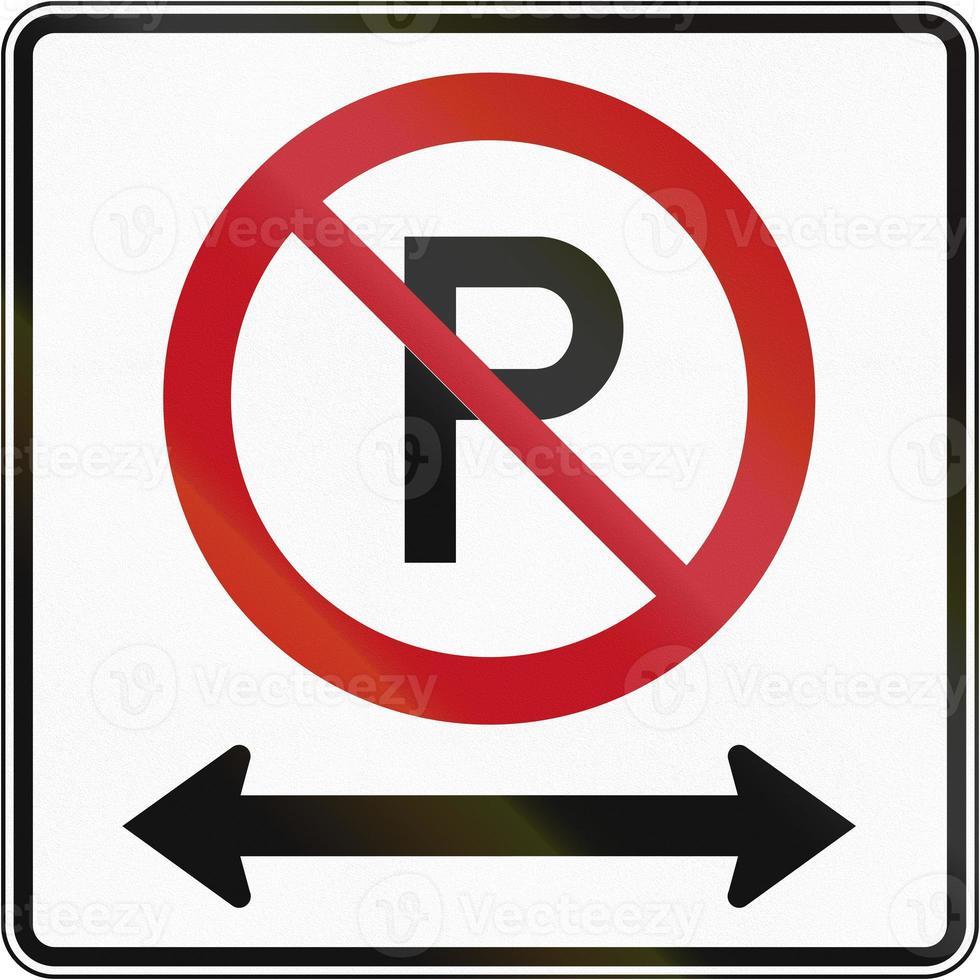 Kein Parkplatz in beide Richtungen in Kanada foto