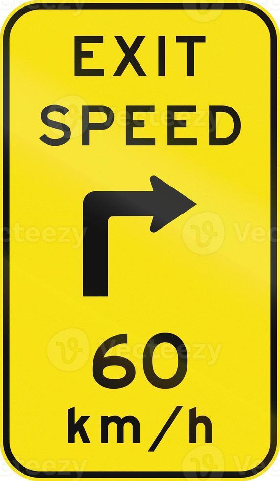 beratende Austrittsgeschwindigkeit in Australien foto