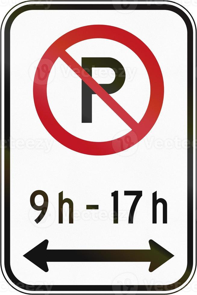 Kein Parkplatz in der angegebenen Zeit in Kanada foto