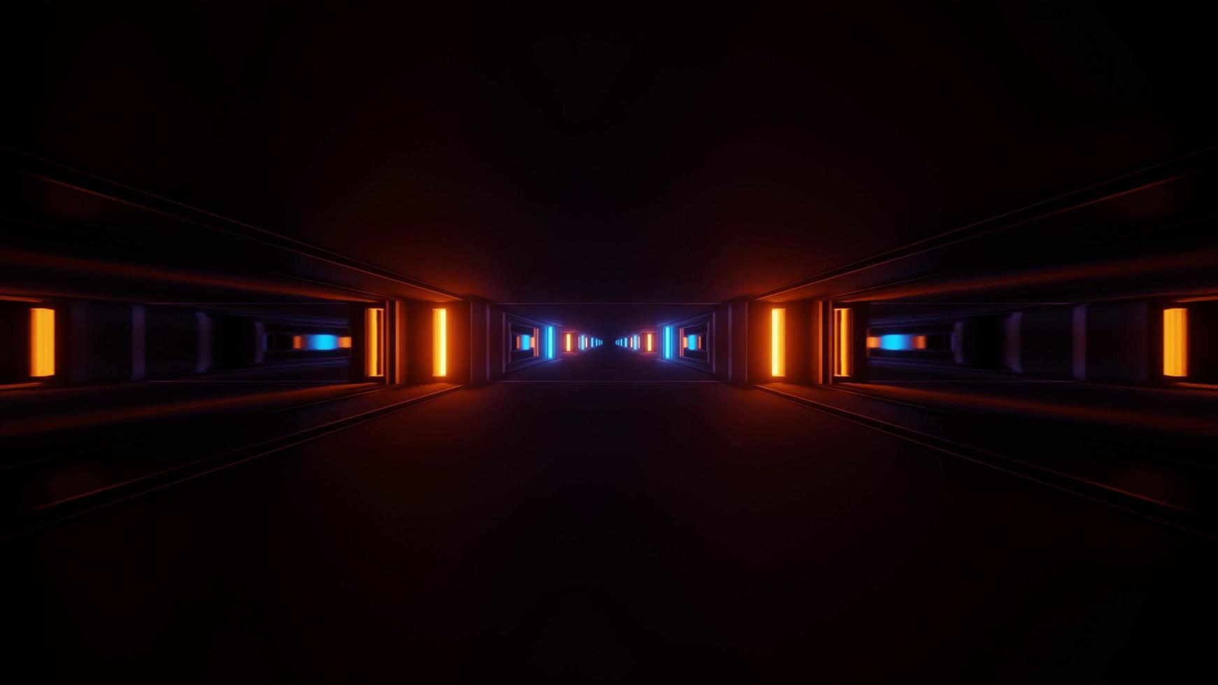 4k uhd 3d Neonlichtillustrationshintergrund foto
