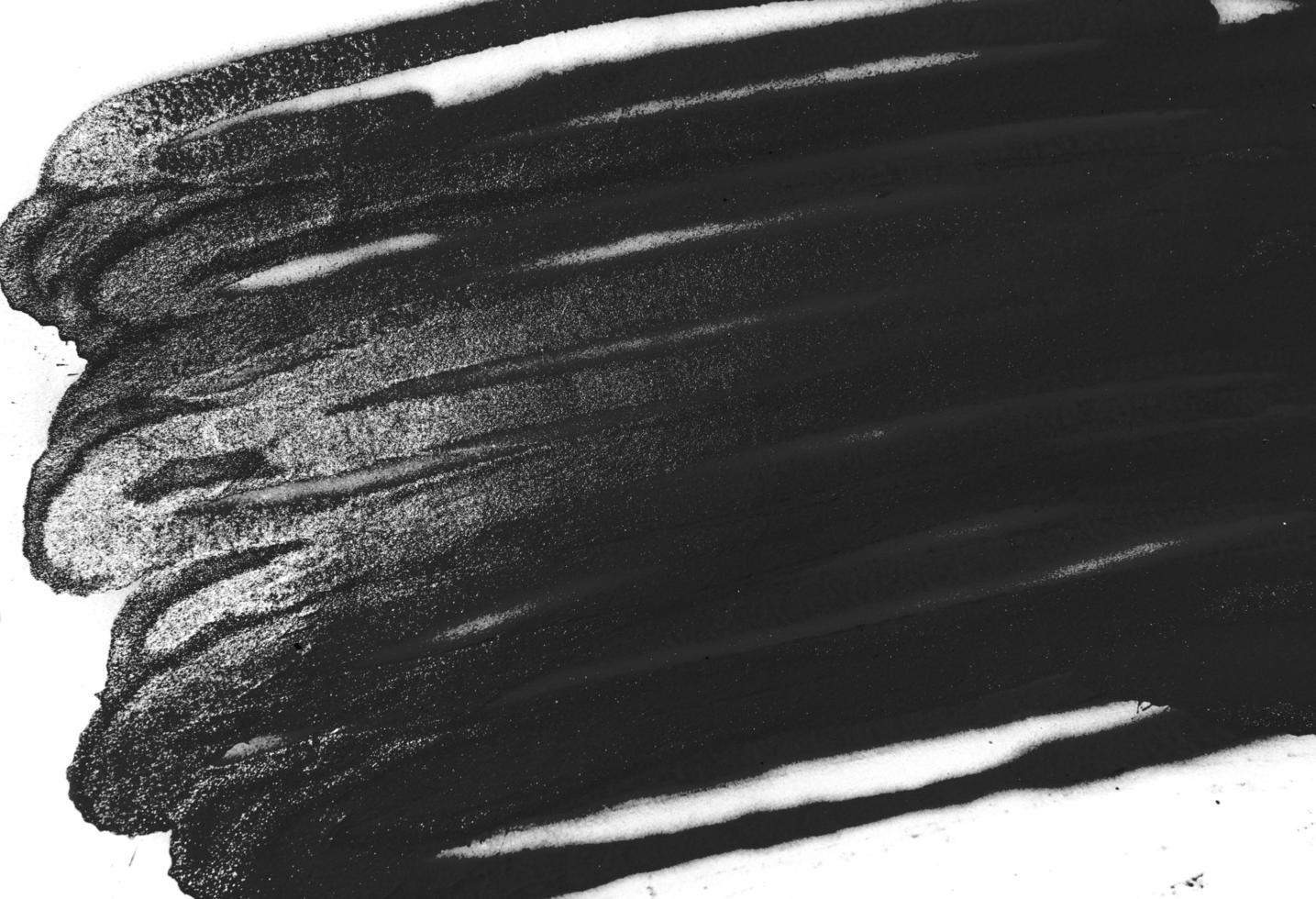 schwarze Sprühfarbe Textur auf weißem Hintergrund foto