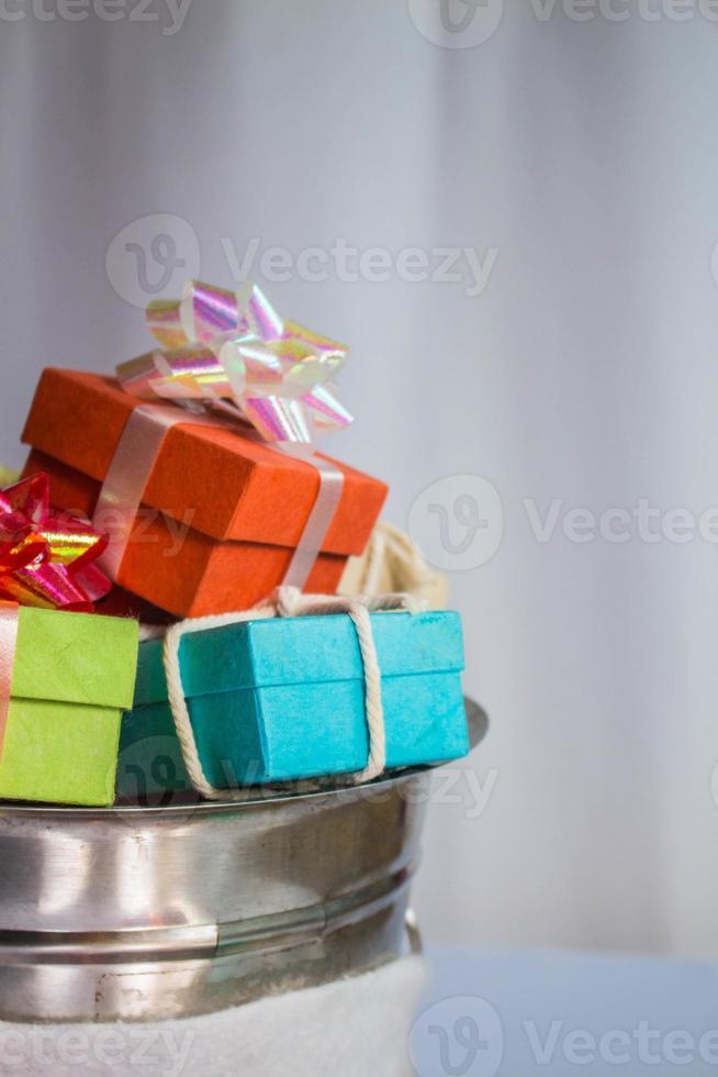 Geschenkbox im Tank. foto