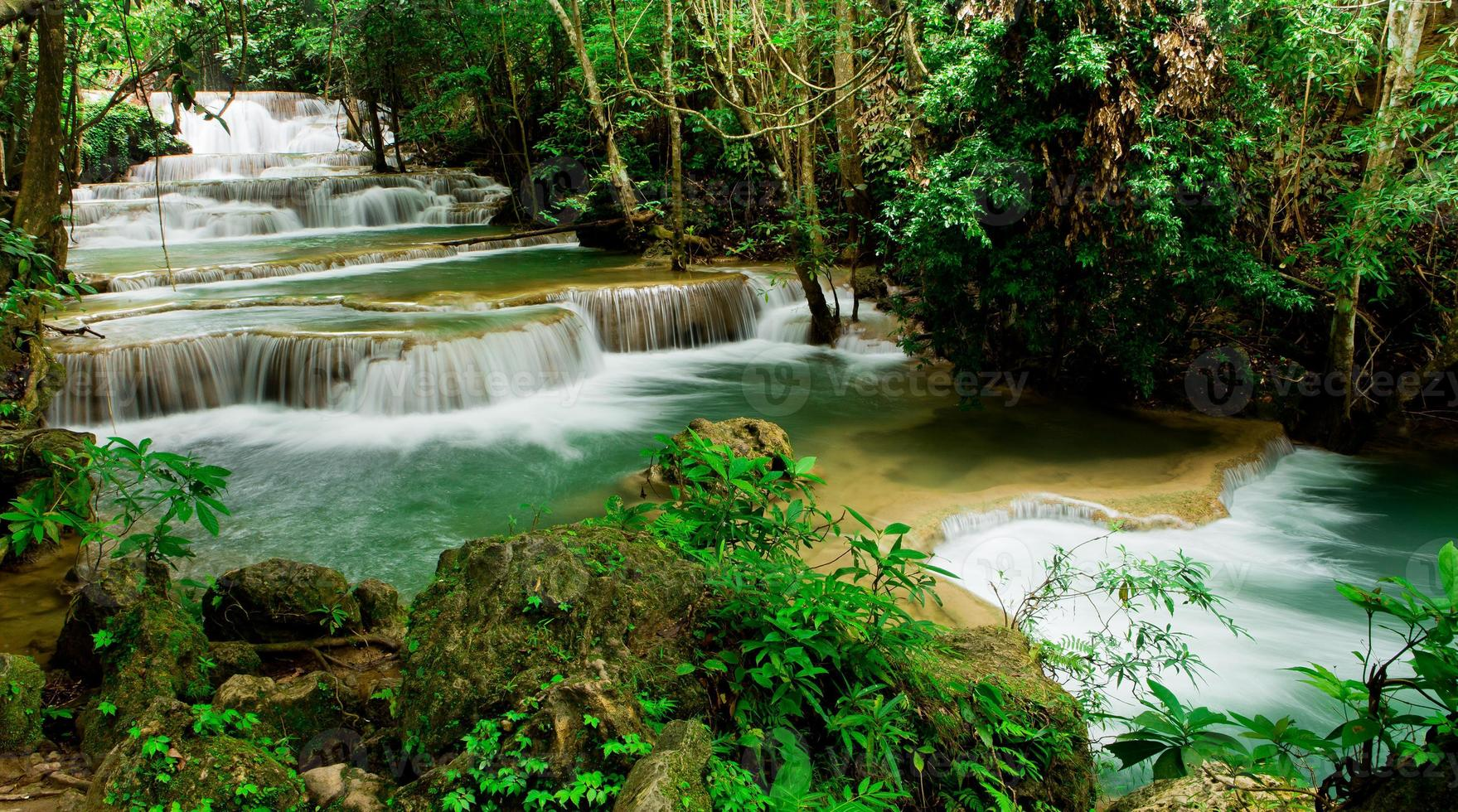 Huay Mae Kamin Wasserfall Asien Thailand foto