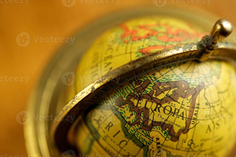 Nahaufnahme eines Vintage Globus foto