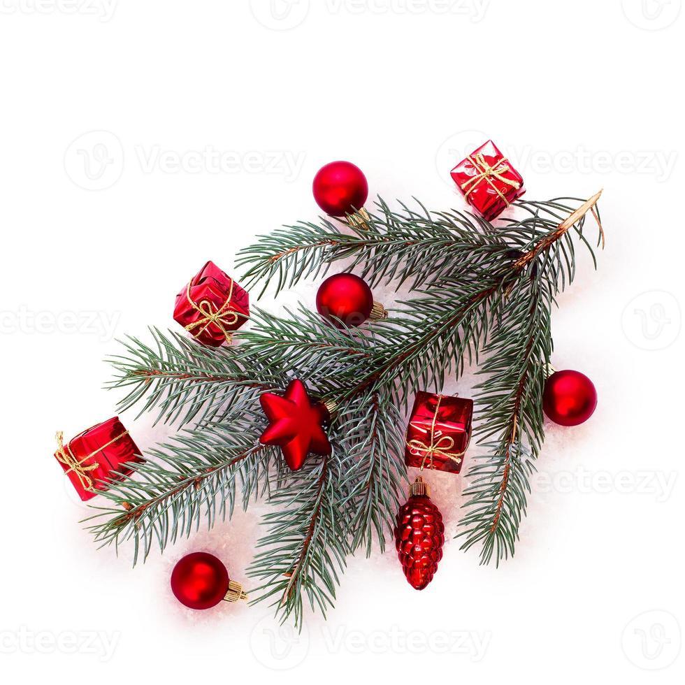 Weihnachtsbaum mit Kugeln foto