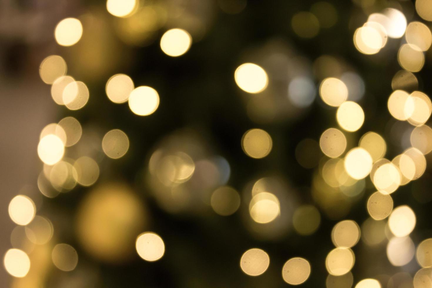 Weihnachten mit Gold Bokeh Licht Hintergrund foto