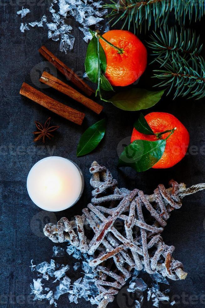 Weihnachtskomposition Hintergrund foto