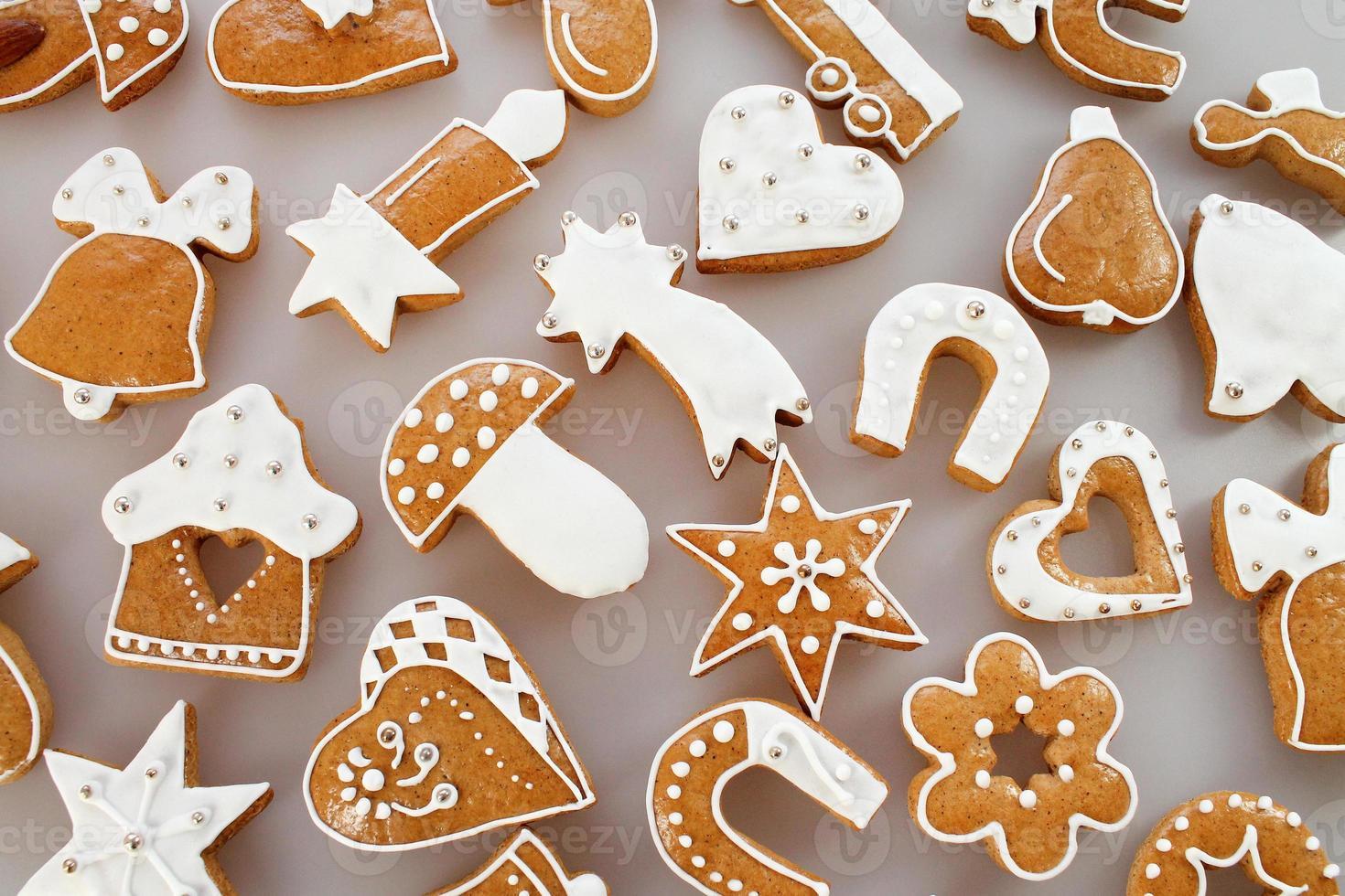 Weihnachtslebkuchenhintergrund foto