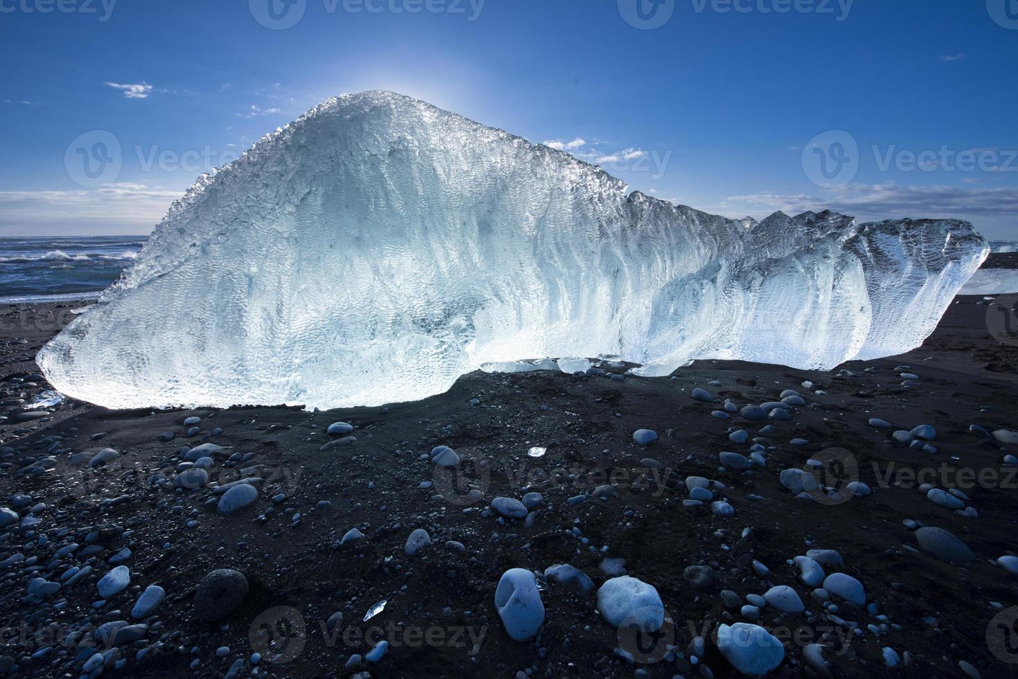 Jokulsarlon Eisstrand in Island foto