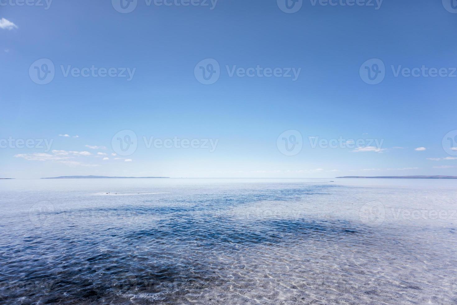 Unendlichkeit am Salzsee foto
