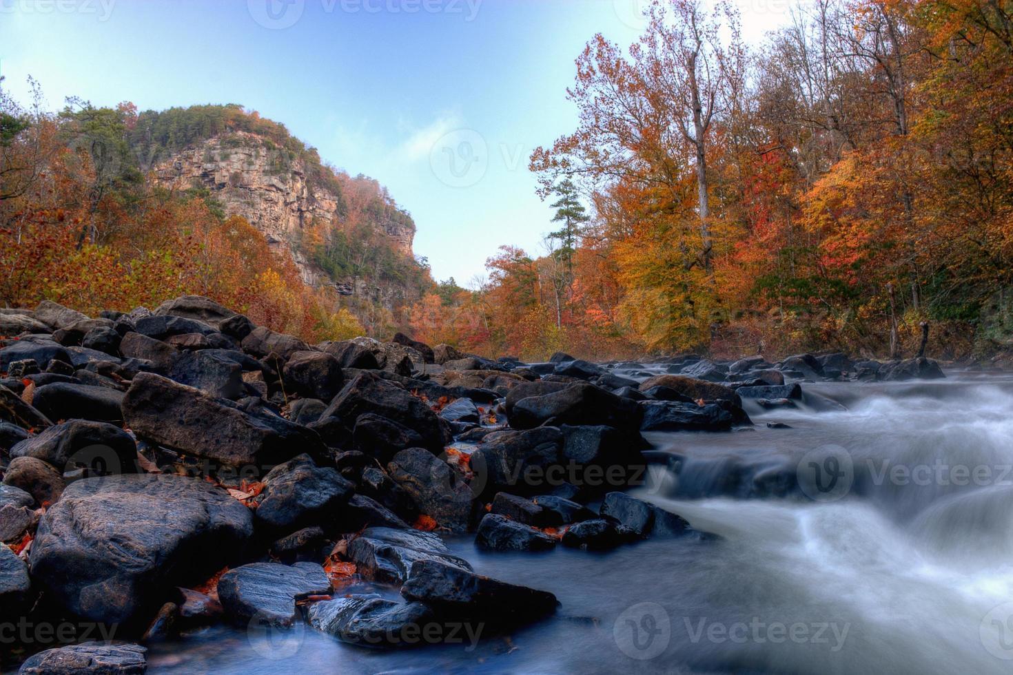 Herbstfarben in der Schlucht foto