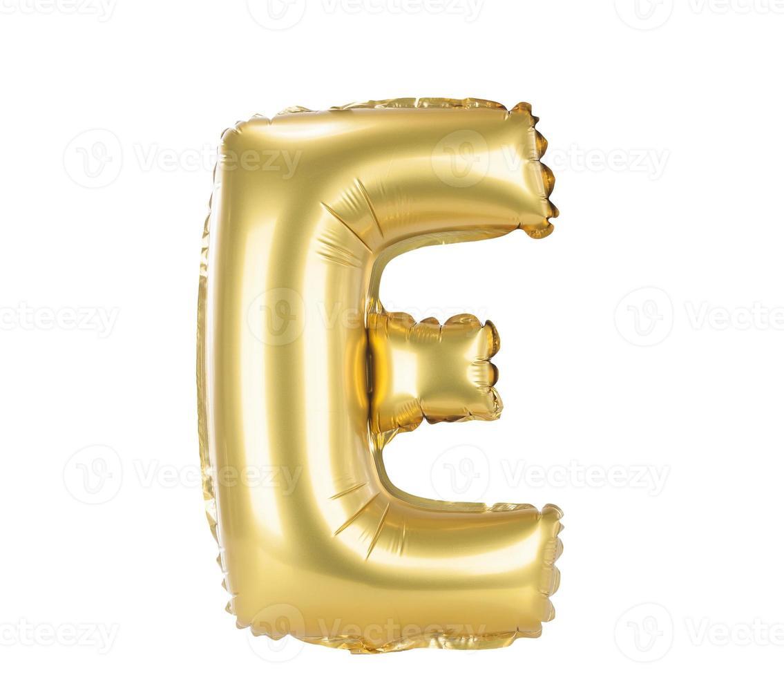 Goldballonschrift Großbuchstabe e foto