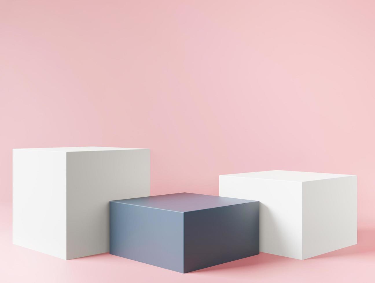 kosmetischer rosa 3d Hintergrund für Produktpräsentation foto