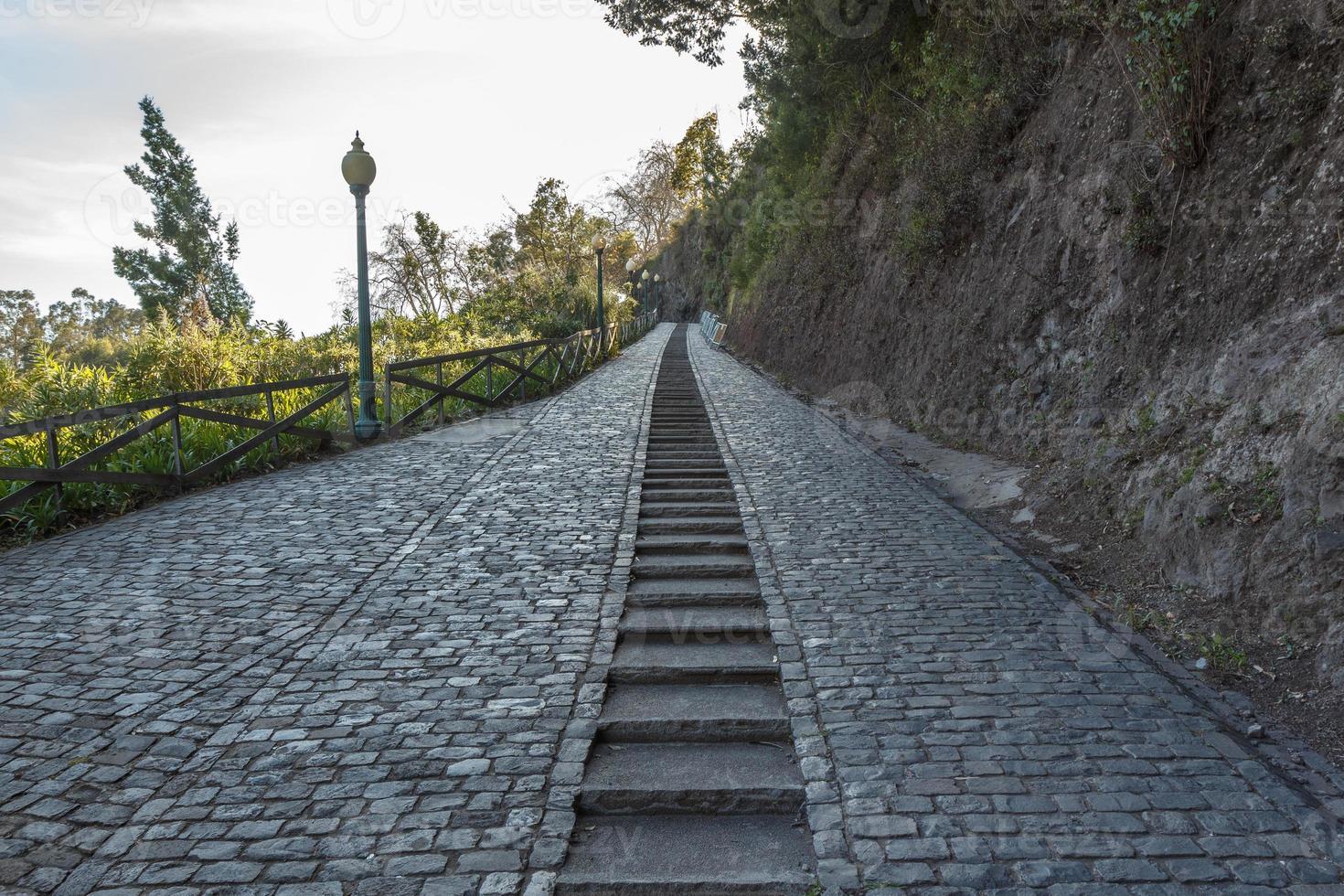 Fußweg und Treppe foto