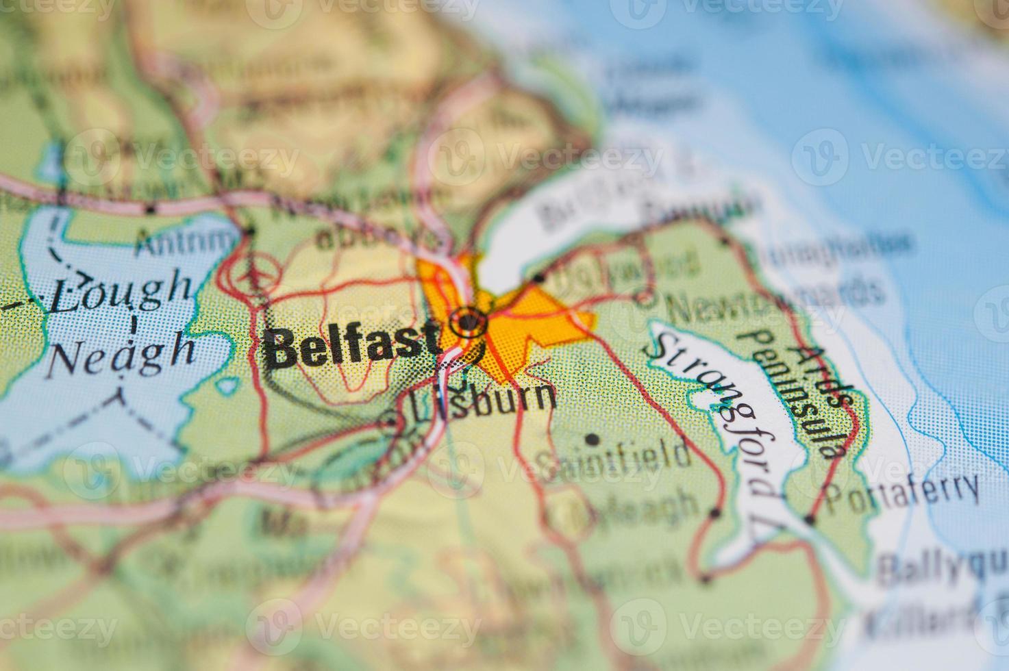 Belfast Karte foto
