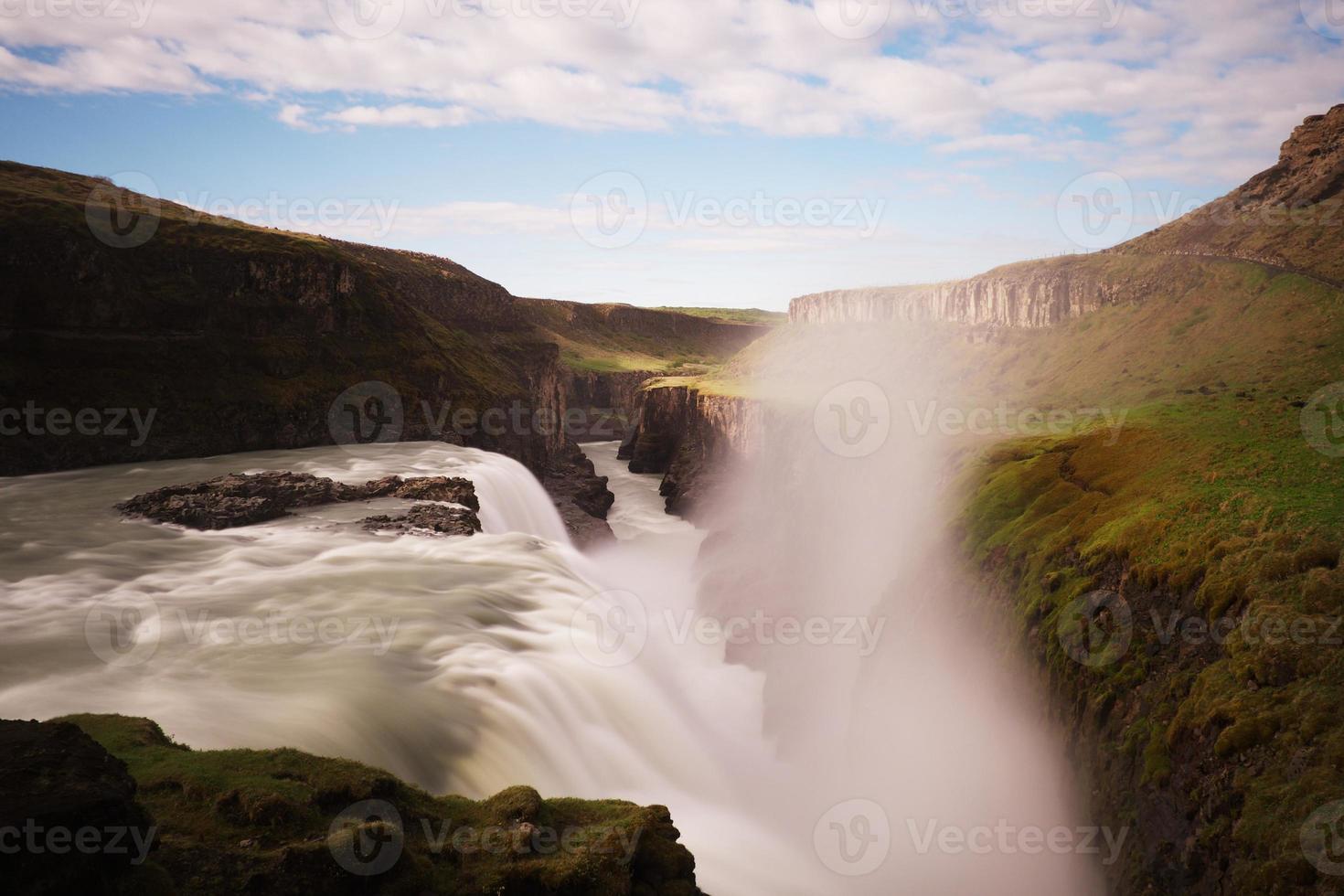 Gullfoss Wasserfall foto