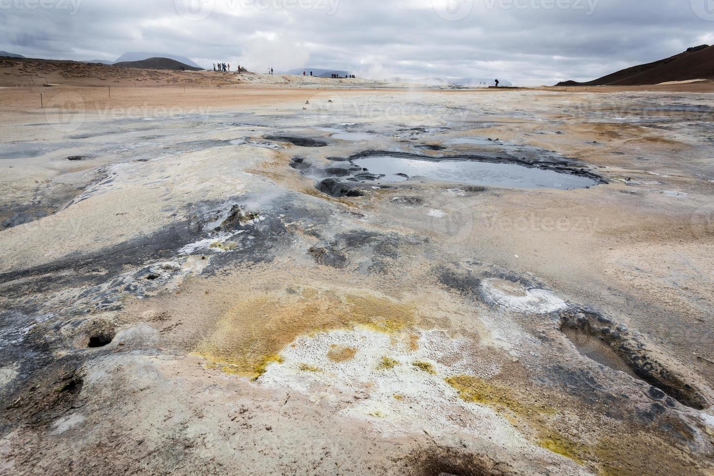 Island, geothermisches Gebiet von Hverir. foto