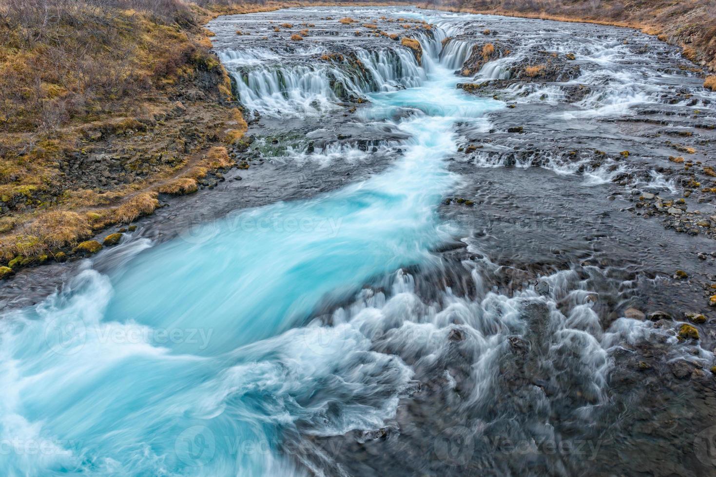 Bruarfoss Wasserfall, Island foto