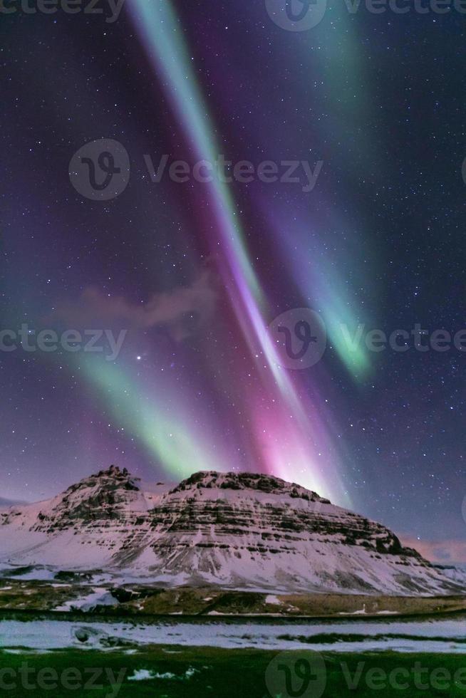 Nordlicht Aurora Island foto