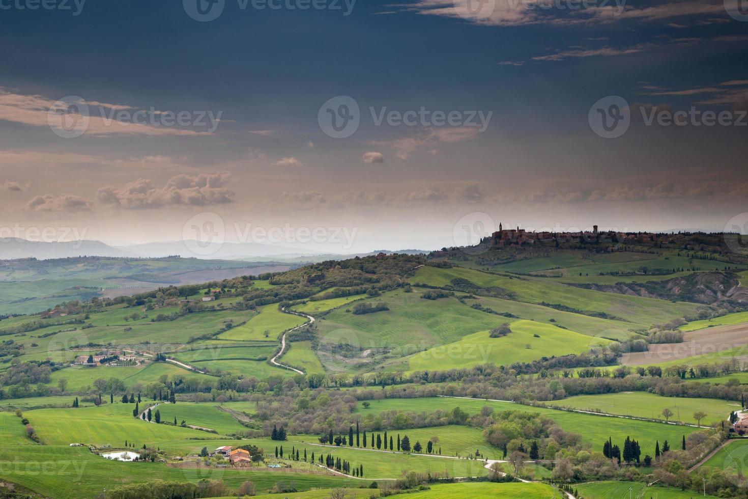 Pienza in der Toskana, Italien foto