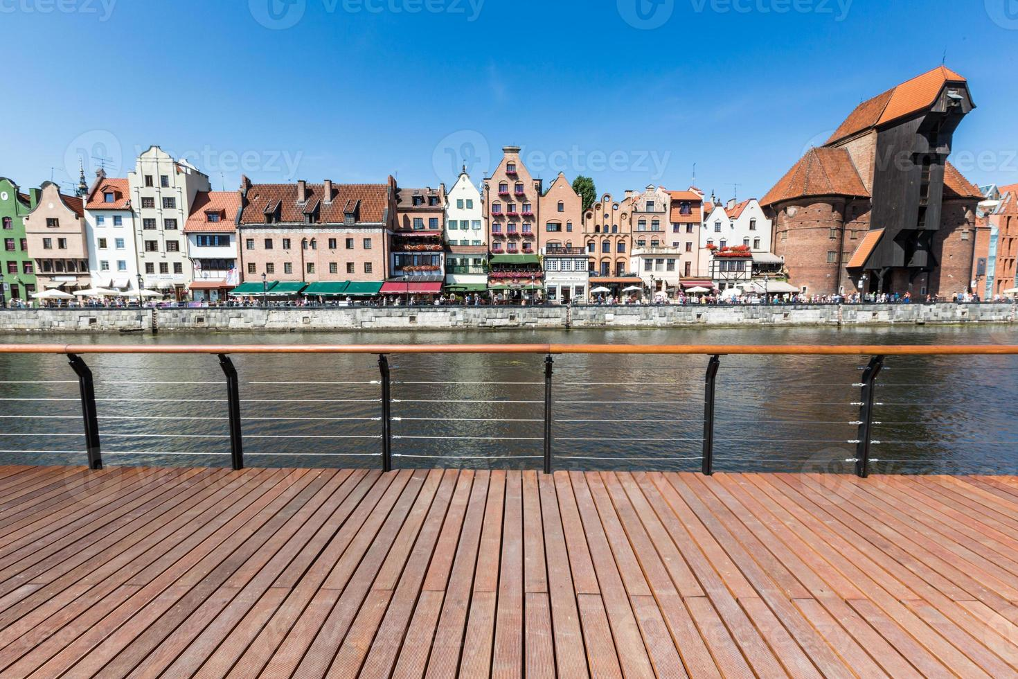 traditionelle architektur in danzig, polen. foto