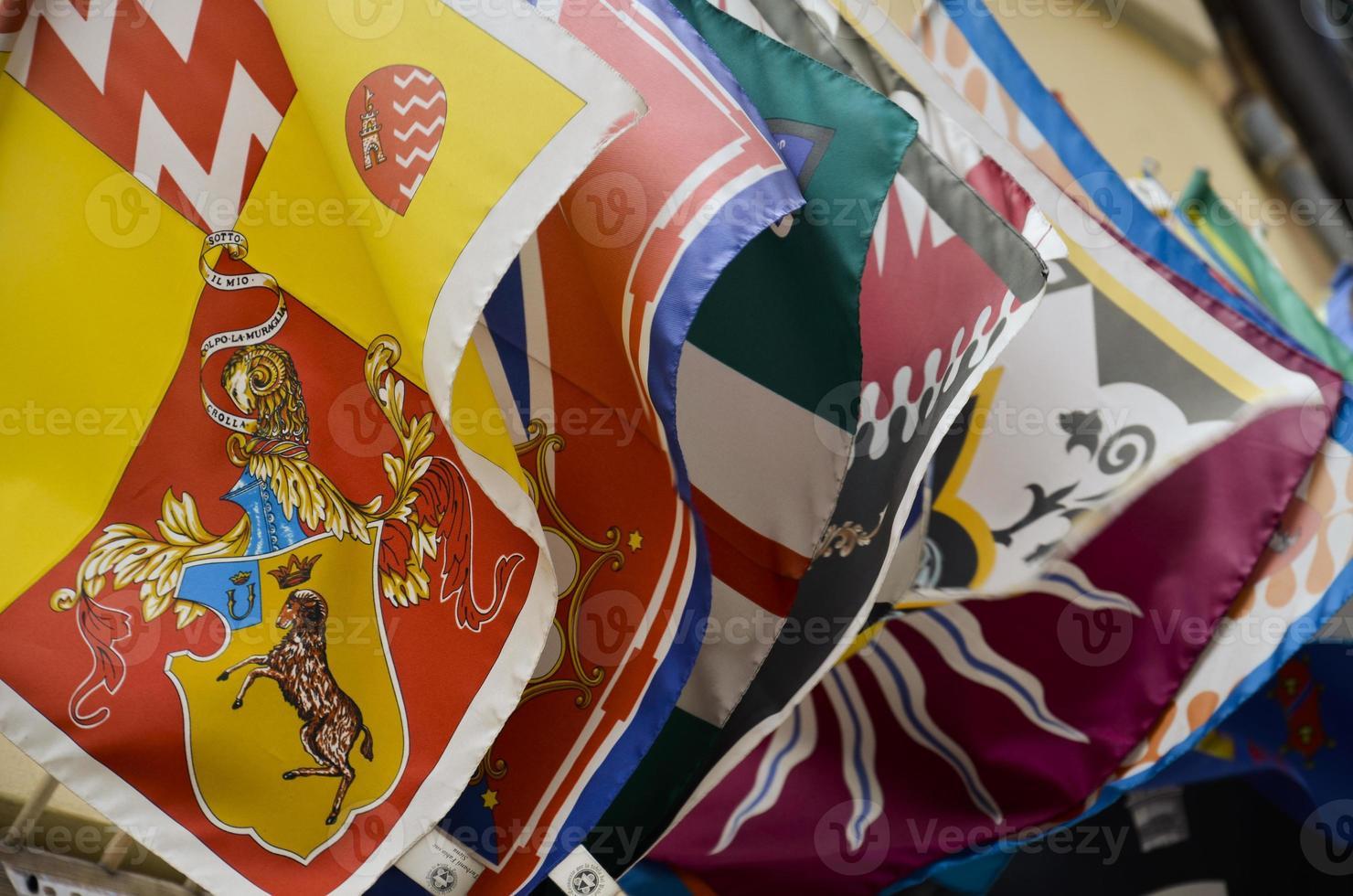 Flaggen des Bezirks, Siena foto