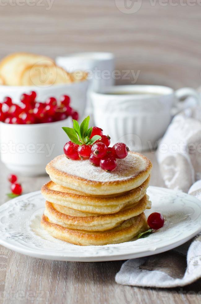 Pfannkuchen mit Beeren foto