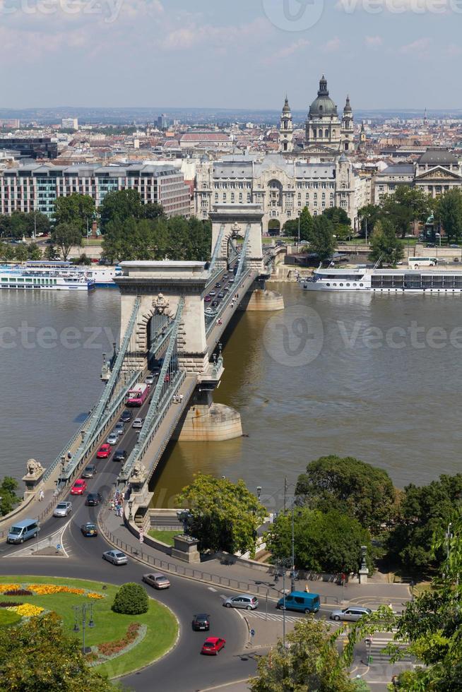 Kettenbrücke in Budapest foto