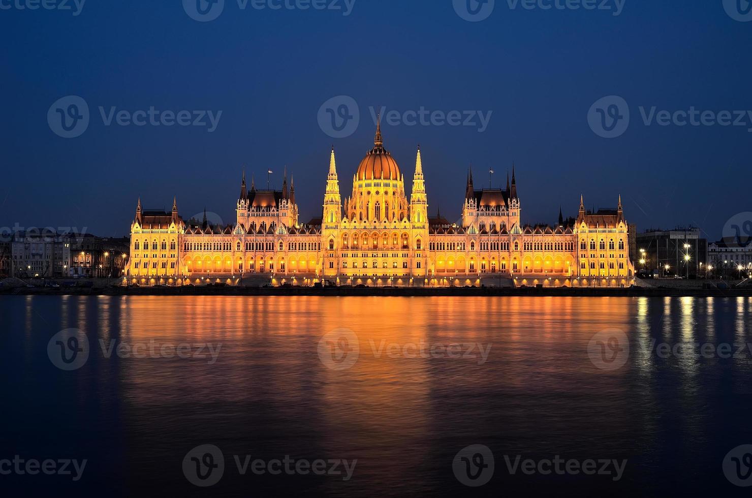 Budapester Parlamentsgebäude foto