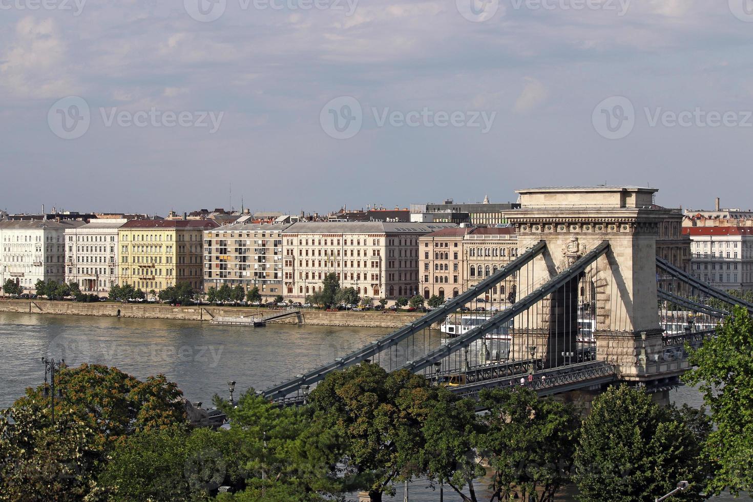 Kettenbrücke Budapest Wahrzeichen Ungarn foto
