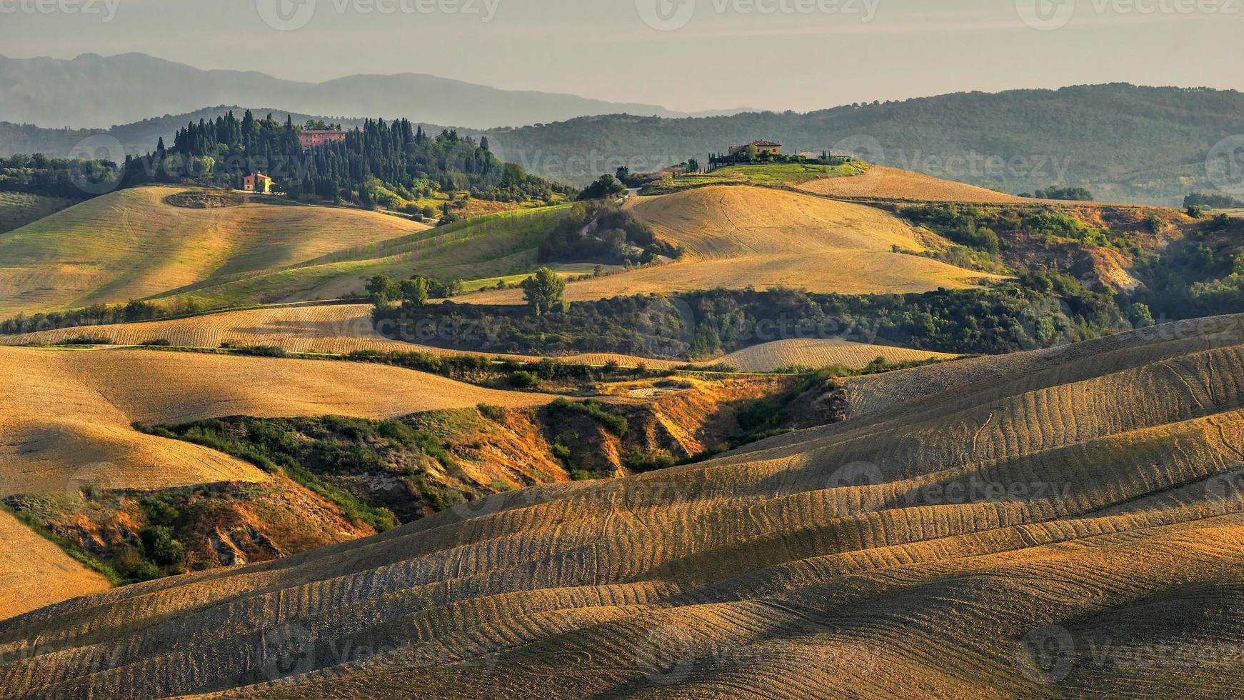 Landschaft, San Quirico, Orcia, Toskana, Italien foto